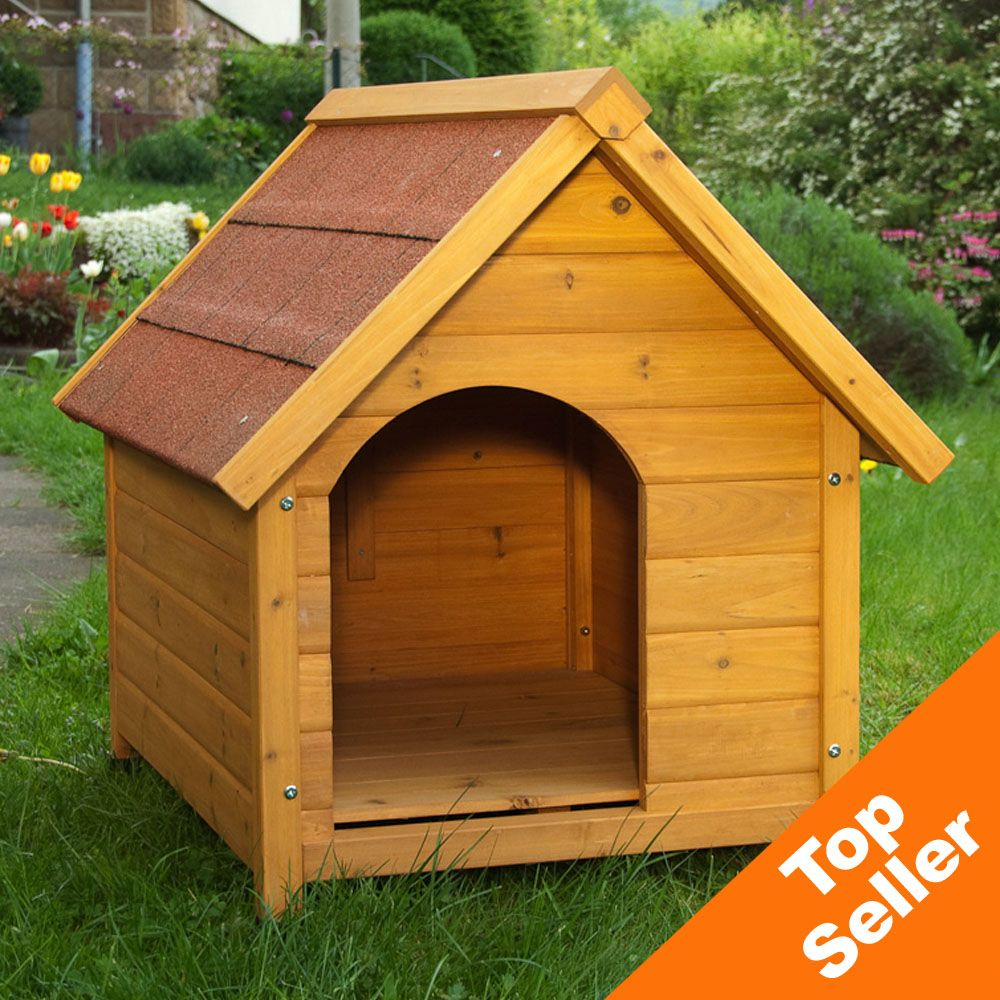 Doghouse Spike Standard with light oiled wood offers everything you would want in a good dog house