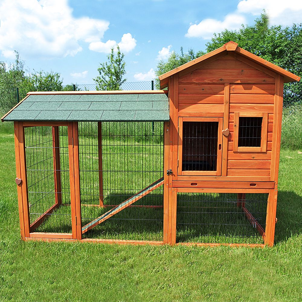 Made from hardened spruce the Rabbit Hutch Outback Deluxe with Run is a luxurious home for your small pets and an eye-catcher in your garden