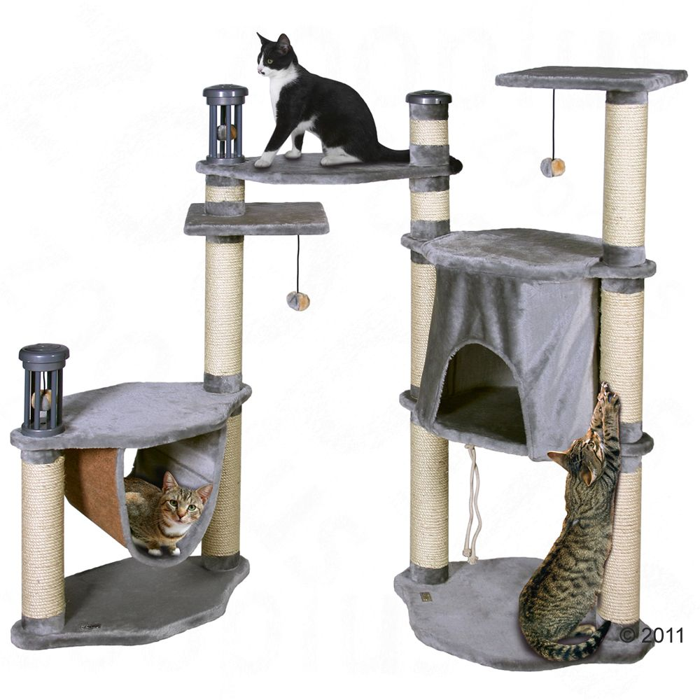 The Luxor Empire cat tree with 4 scratch posts is an extravagant playground for your pets
