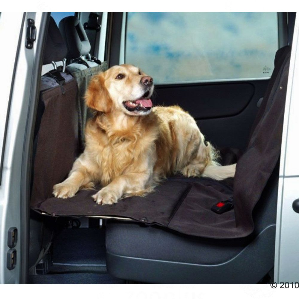 This car seat cover with integrated support plates will mean an end to your dog slipping down between the car seats