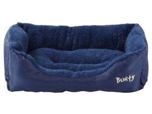 Deluxe Soft Washable Dog Pet Bed Blue Small