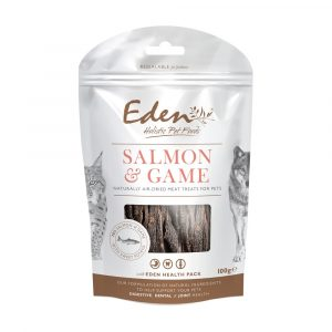 Eden Salmon and Game Treats - 6 x 100g