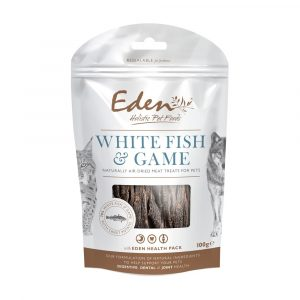 Eden Cat & Dog Treats White Fish and Game 6x100g
