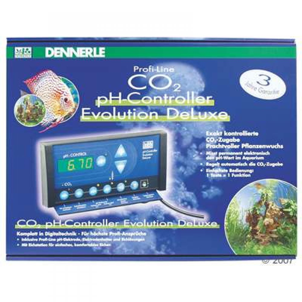 The Dennerle Profi-Line pH-Controller offers along with its sleek modern design superior performance safety and comfort Its use though is quite simple 1 key = 1 function A control light displays whether are not CO2 is being supplied