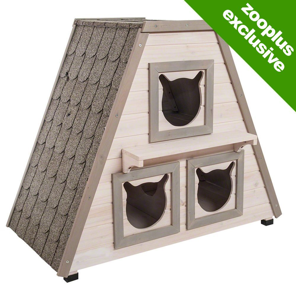 The Madeira cat house is a very unusual wooden cat house and it provides the perfect place for your cat to get away from it all when outside