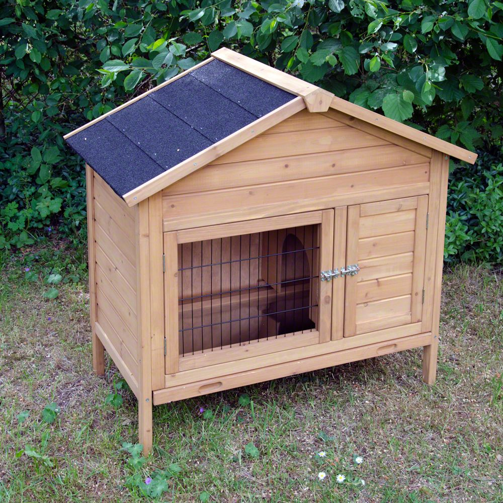 Rabbit Hutch Vivienda is a robust one-storied hutch from quality wood with a separate sleeping den