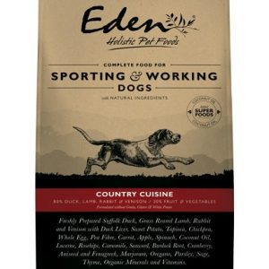 Eden 80 20 Country Cuisine Working And Sporting Dog 15kg Small Kibble