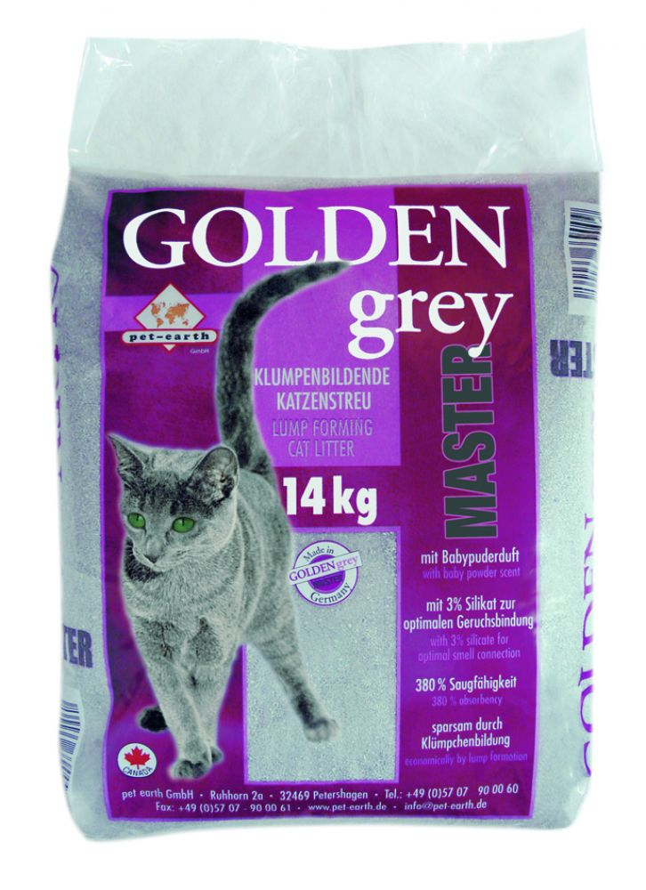 Golden Grey Master kitty litter is very popular among cat owners
