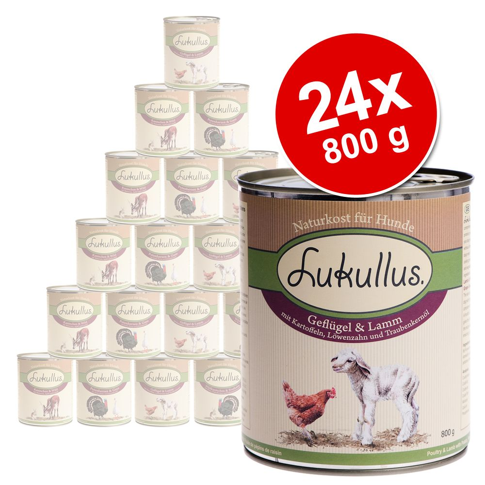 Lukullus natural dog food is a healthy complete diet and provides your pet with all essential nutrients in 5 delicious flavours
