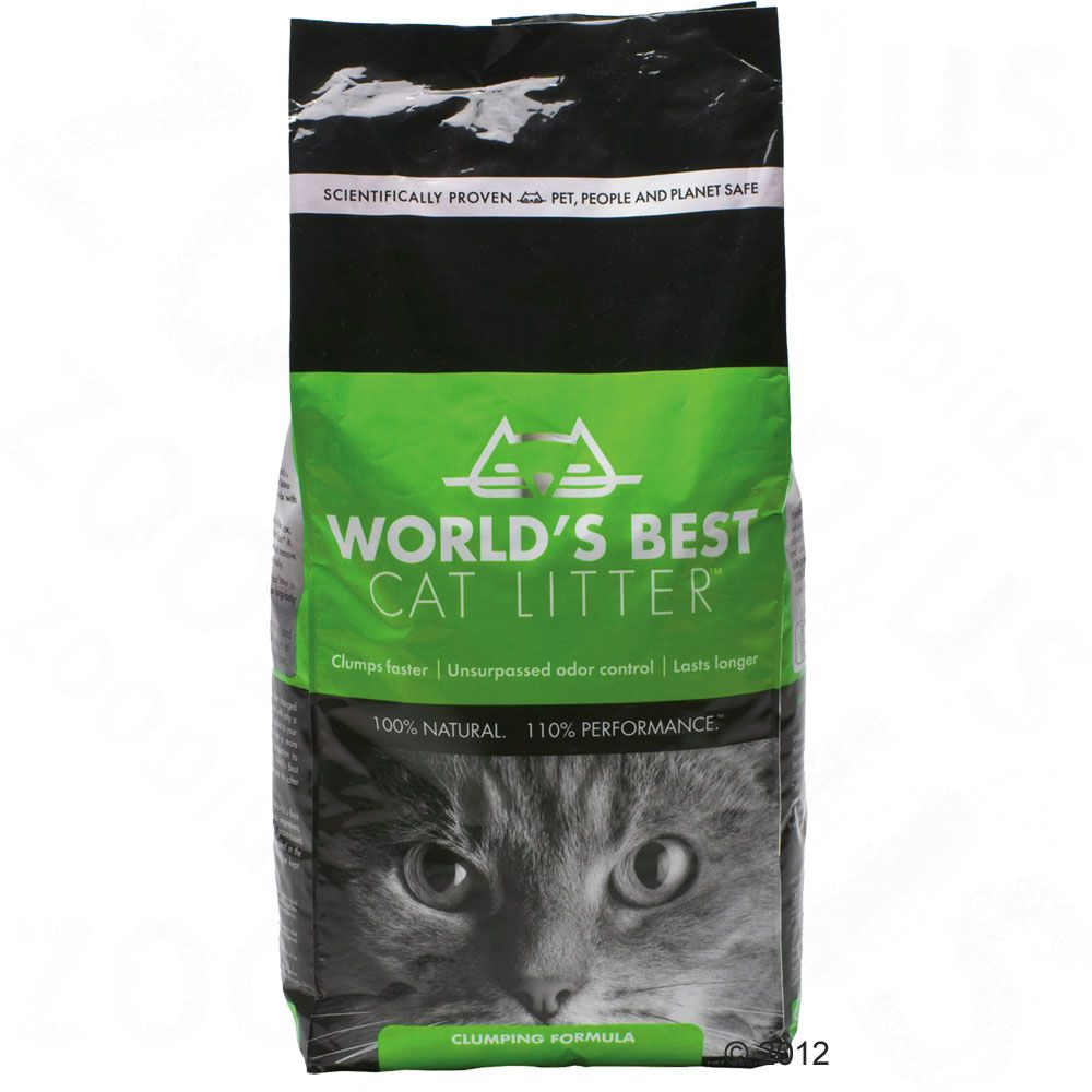 Made from whole kernel corn this is clumping cat litter from the USA - 100% ecological