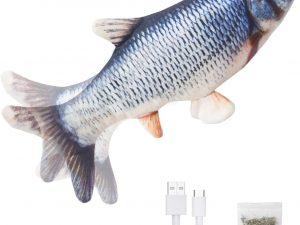 Catnip Wagging Toy Fish For Cats Usb Rechargeable