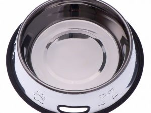 0.9L Embossed Stainless Steel Bowl with Rubber Ring