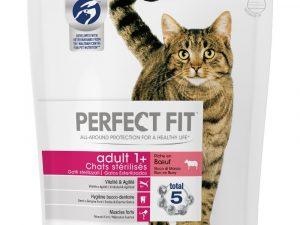 1.4kg Sterile 1+ Beef Perfect Fit Dry Cat Food