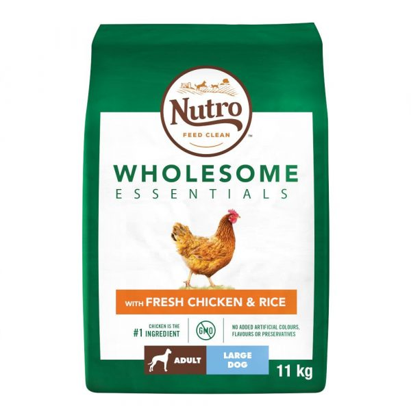 11kg Chicken & Rice Large Breed Adult Nutro Wholesome Essentials Dry Dog Food
