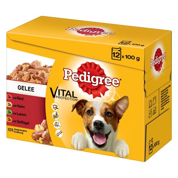 12 x 100g Pedigree Wet Dog Food Multipack Pouches - 20% OFF! - Adult in Jelly Multipack (12 x 100g)