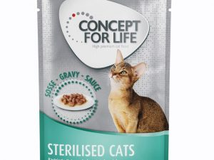 12 x 85g Concept for Life Wet Cat Food – 25% Off!* - Sterilised Cats – in Gravy (12 x 85g)