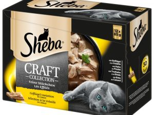120 x 85g Sheba Pouches/Trays Wet Cat Food - 96 + 24 Free!* - Select Slices in Gravy - Poultry Collection