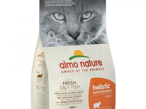 12kg Almo Nature Holistic Oily Fish & Rice Dry Cat Food