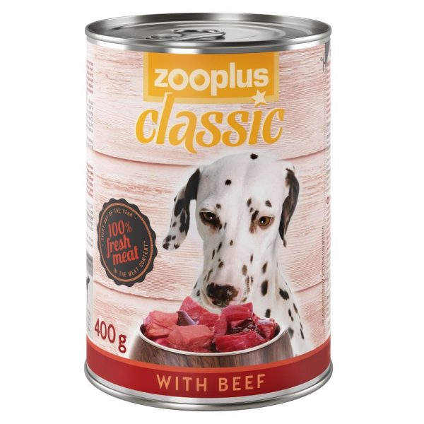 12x400g Saver Pack Chicken zooplus Classic Wet Dog Food
