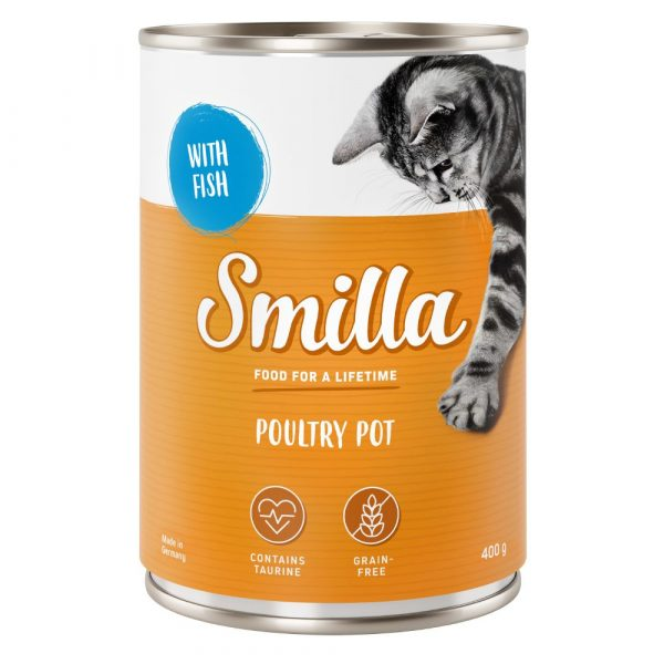12x400g Tender Fish & Poultry Smilla Wet Cat Food