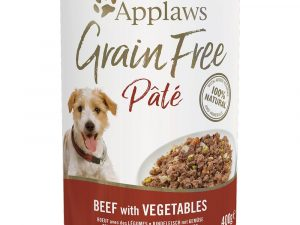 12x400g Turkey with Chicken & Vegetables Grain Free Pate Applaws Wet Dog Food