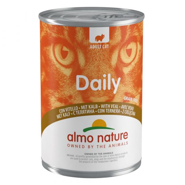 12x400g Veal Almo Nature Daily Menu Wet Cat Food