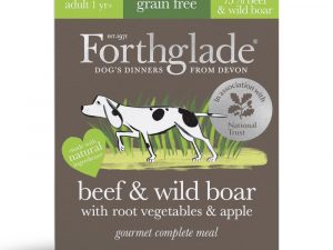 14x395g Beef & Wild Boar with Root Veg & Apple Grain-Free Gourmet Forthglade Wet Dog Food