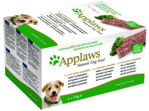 15x150g Country Selection Pâté Applaws Wet Dog Food