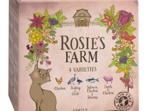16x100g Mixed Trial Pack Adult Wet Cat Food Rosie's Farm