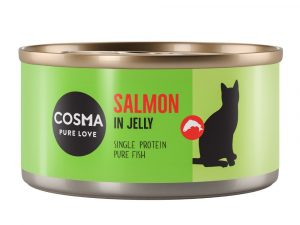 24x170g Salmon in Jelly Saver Pack Cosma Original Wet Cat Food