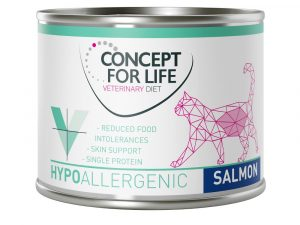 24x185g Hypoallergenic Salmon Concept for Life Veterinary Wet Cat Food