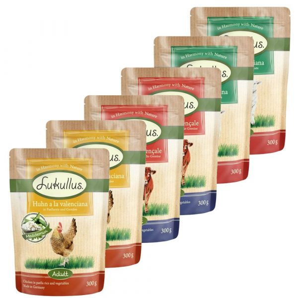 24x300g Lukullus Pouches Classic Dog Food