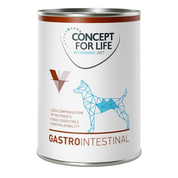 24x400g Gastro Intestinal Concept for Life Veterinary Wet Dog Food