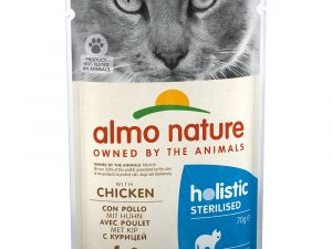 24x70g Chicken Sterilised Holistic Almo Nature Wet Cat Food