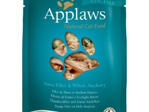 24x70g Tuna with Pacific Prawns Pouches Applaws Wet Cat Food