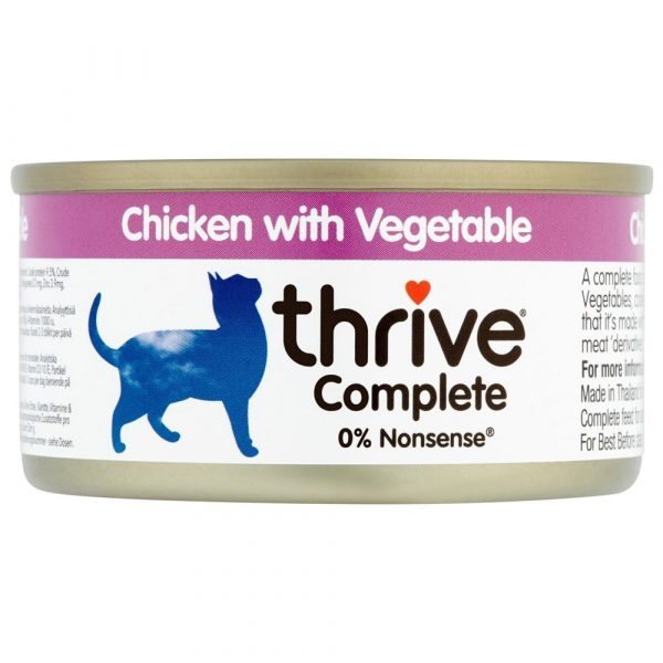 24x75g Chicken with Vegetables thrive Complete Wet Cat Food