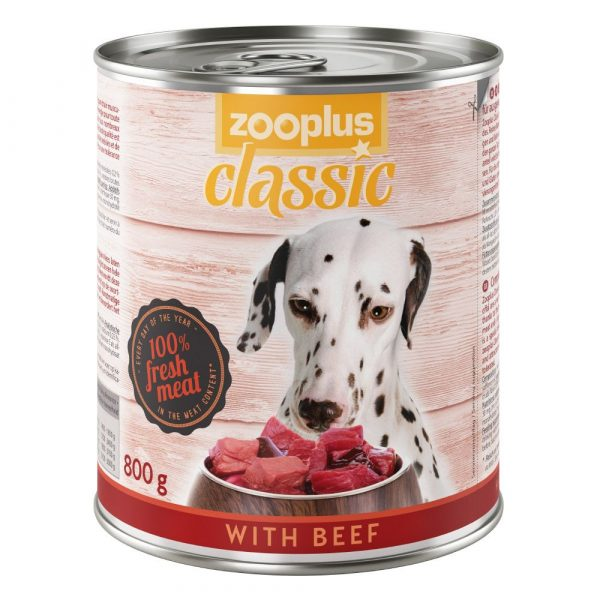 24x800g Saver Pack Chicken zooplus Classic Wet Dog Food