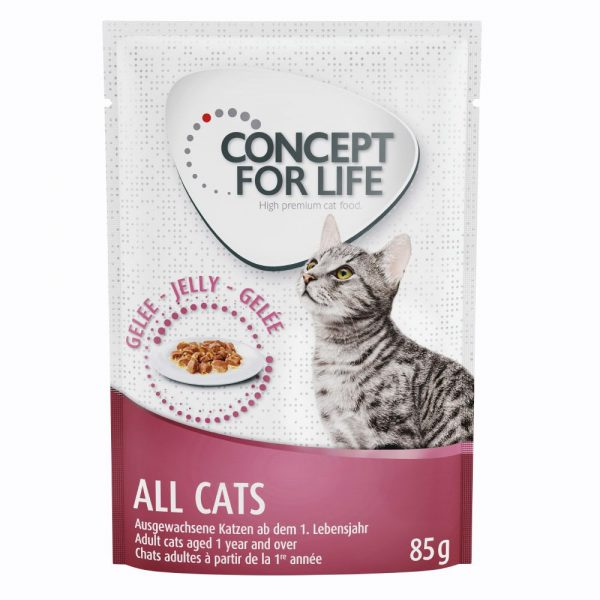 24x85g Jelly All Cats Concept for Life Wet Cat Food