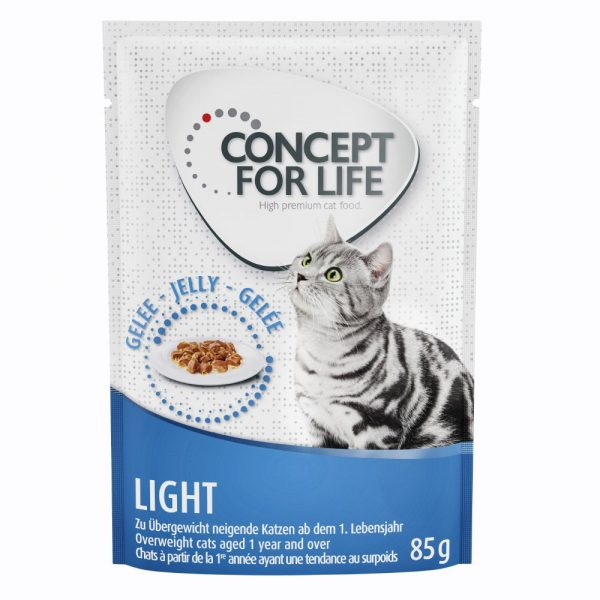 24x85g Jelly Light Concept for Life Wet Cat food