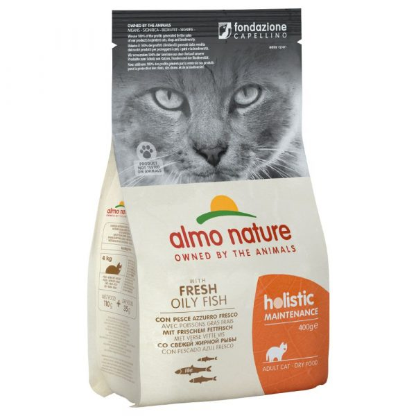 2kg Almo Nature Holistic Oily Fish & Rice Dry Cat Food