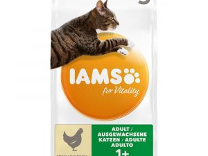 2x10kg Chicken Adult for Vitality IAMS Dry Cat Food