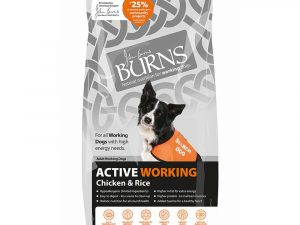 2x12kg Active Working Adult Chicken & Brown Rice Burns Dry Dog Food