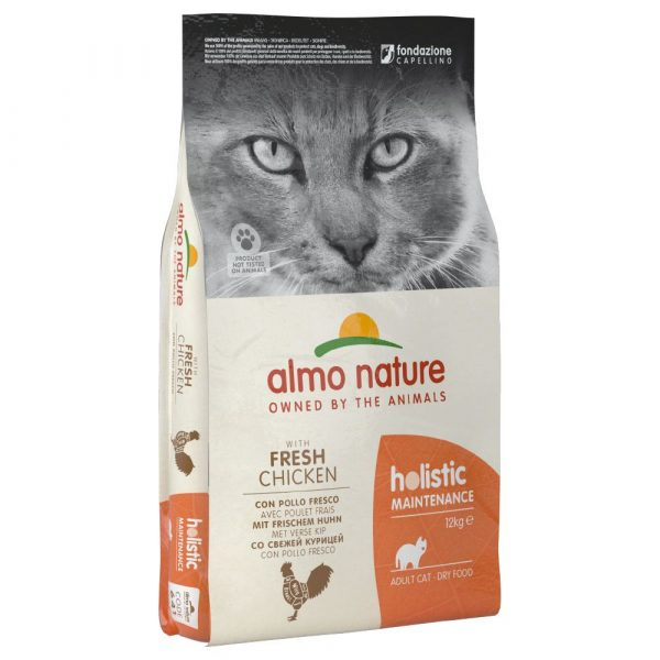 2x12kg Chicken & Rice Almo Nature Holistic Dry Cat Food