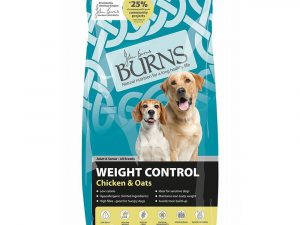 2x12kg Weight Control Chicken & Oats Adult & Senior Burns Dry Dog Food