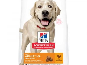 2x14kg Chicken Large Breed Light Advanced Fitness Adult Hill's Science Plan Dry Dog Food