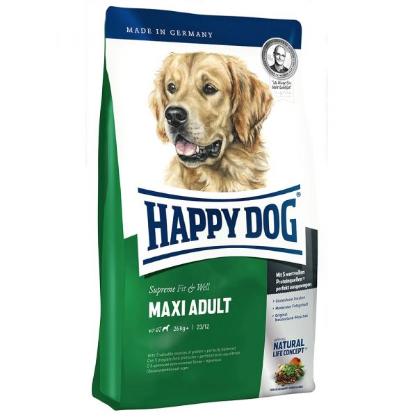 2x15kg Fit & Well Adult Maxi Happy Dog Supreme Dry Dog Food