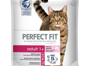2x2.8kg Adult 1+ Salmon Perfect Fit Dry Cat Food