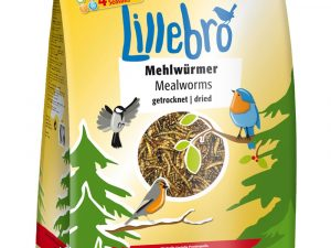 2x500g Lillebro Dried Mealworms
