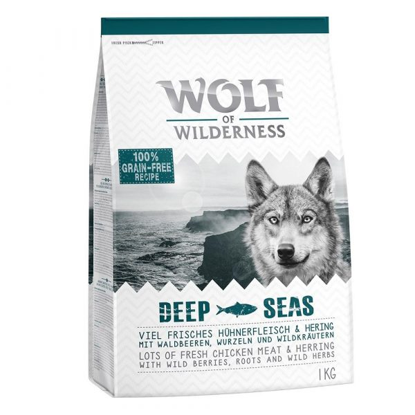 """3 x 1kg Wolf of Wilderness Dry Dog Food - 2 + 1 Free! - Adult Elements """"Rough Storms"""" Duck (3 x 1kg)"""