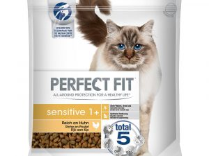 3x750g Sensitive 1+ Chicken Perfect Fit Dry Cat Food